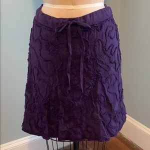 NWOT Max Studio Purple Cotton Skirt, SZ M.